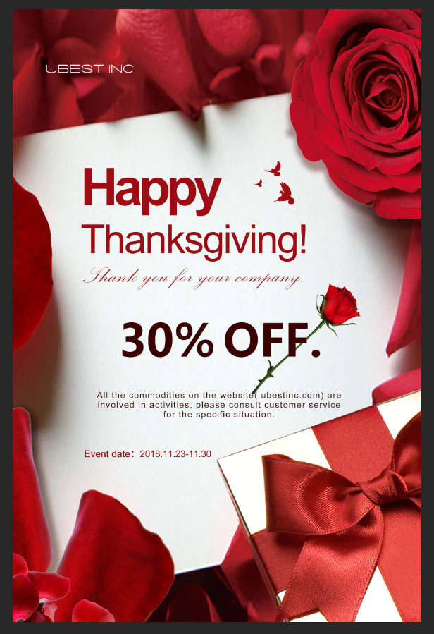 Thanksgiving Product Discount