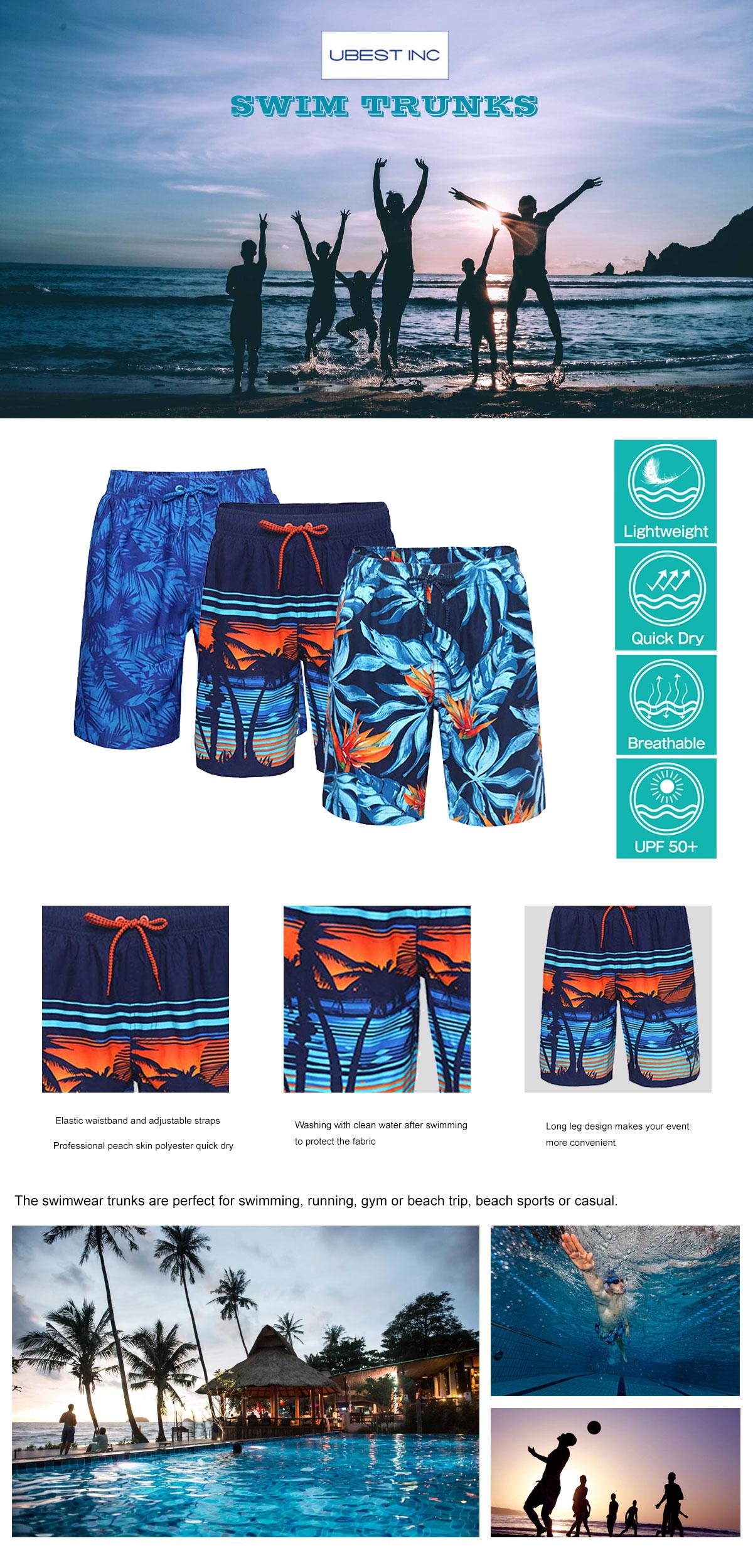 Men Beach Swim Trunks