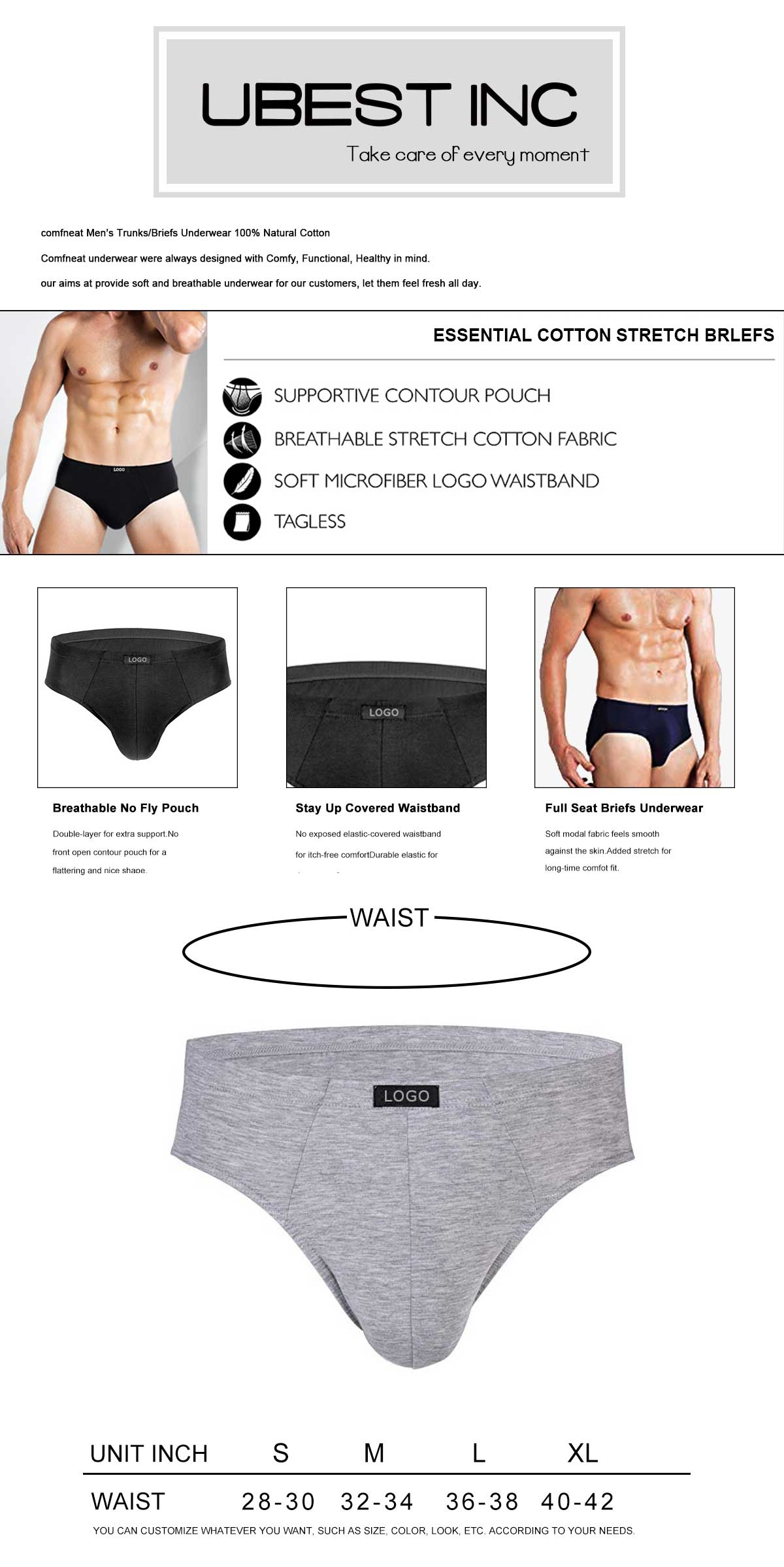 Men Low Rise Underwear Briefs