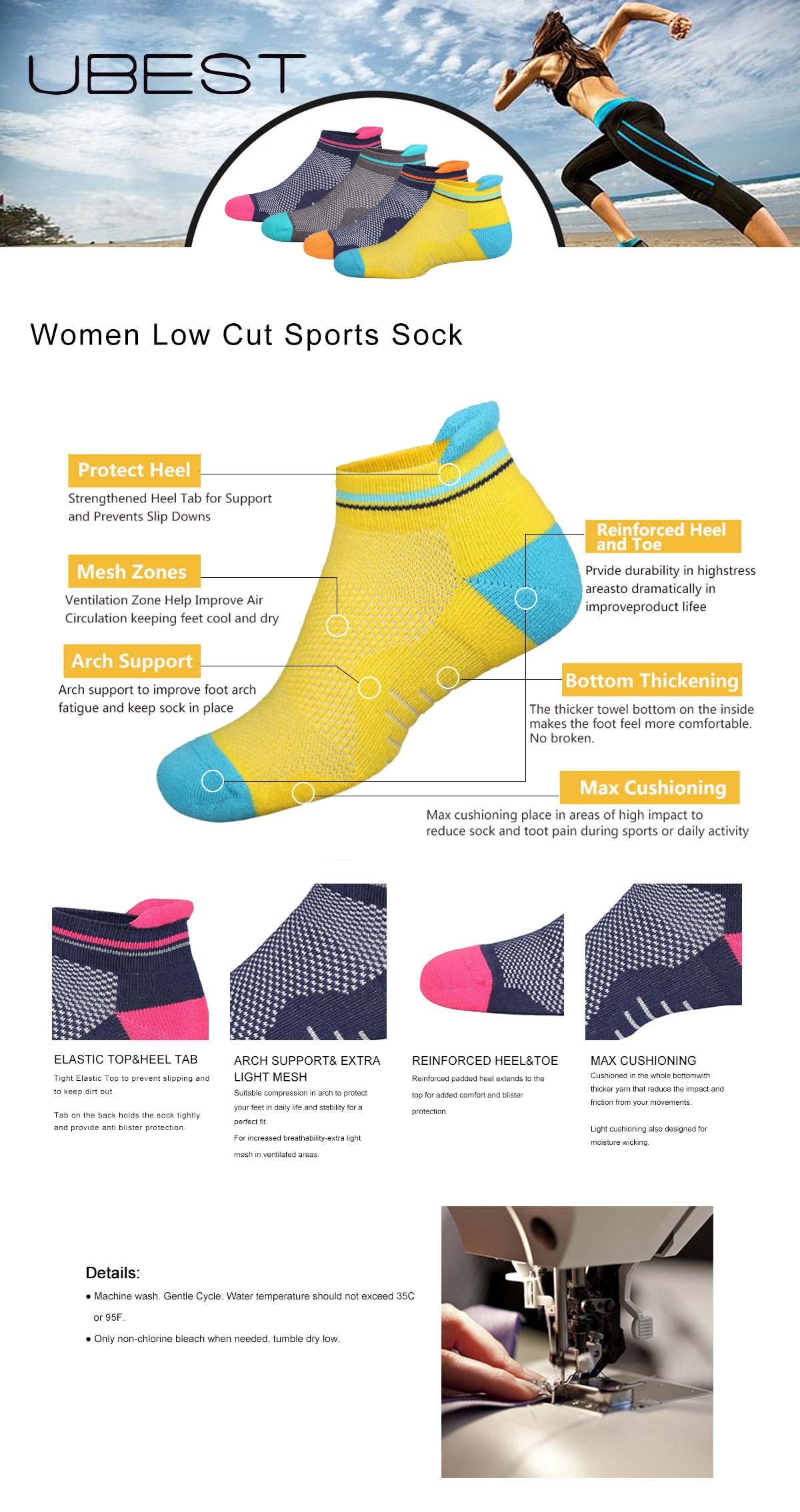 Women Low Cut Sports Sock