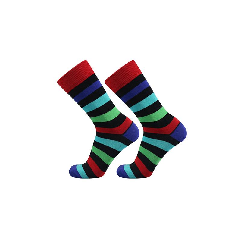 Men Stripe Cotton Socks