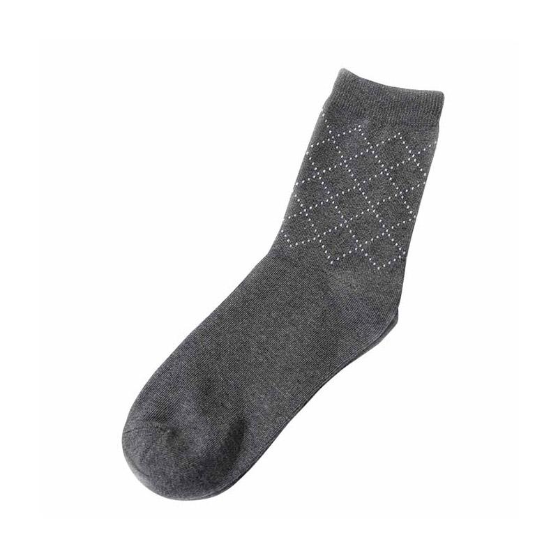 Men Cotton Blend Business Dress Socks