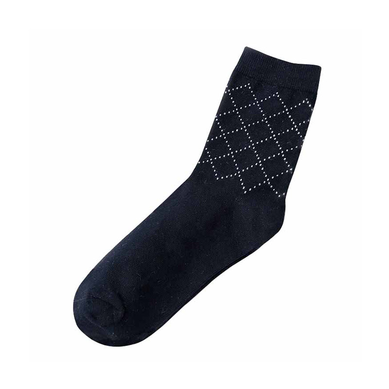 Men Cotton Blend Business Dress Socks